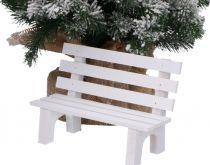 Dekorace dřevěná mini LAVIČKA.18x8x12cm - 1ks