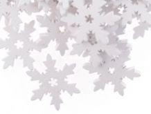 Dřevěná dekorace VLOČKA bílá 25mm - 1ks