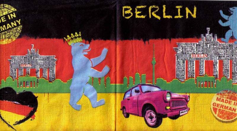 Ubrousek 33 x 33 cm BERLIN k hobby tvorbě a decoupage