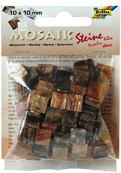 Mozaika MRAMOR hnědý 10x10mm