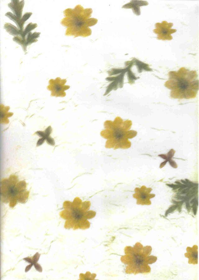 Pergamen. papír 115g KVĚTY A4 - 1ks