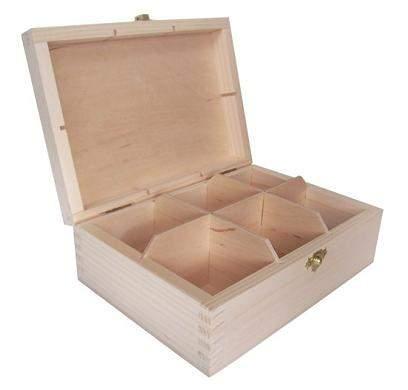 MASIV - Krabička na čaj - 6 přihrádek