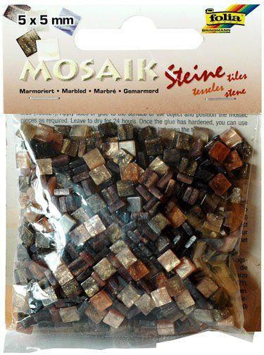 Mozaika MRAMOR hnědý 5x5mm