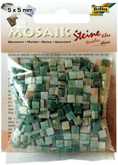 Mozaika MRAMOR zelený 5x5mm