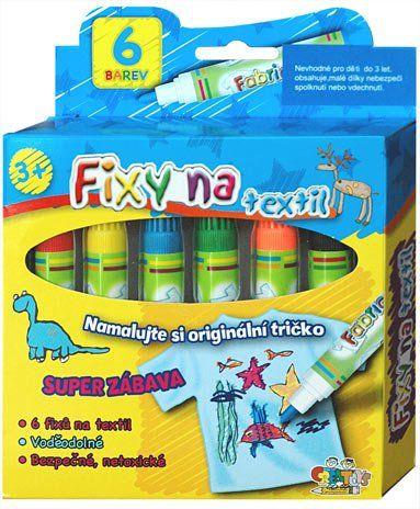 Fixy na textil 6ks