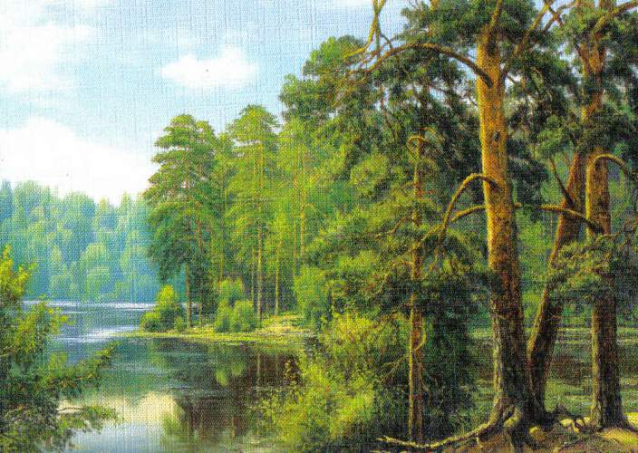 Reprodukce krajinka 12,5 x 18 cm