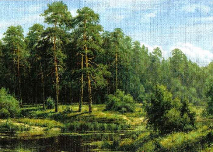 Reprodukce krajinka 18 x 12,5 cm