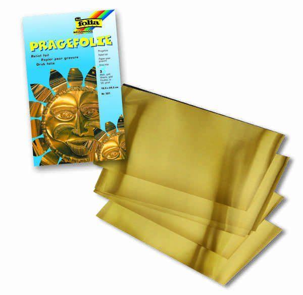 Hliníková folie zlatá 70 u - 3 ks
