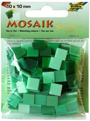 Mozaika LESKLÁ 10x10mm- ZELENÝ mix