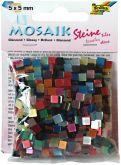 Mozaika LESKLÁ mix barev 5x5mm - cca 830ks