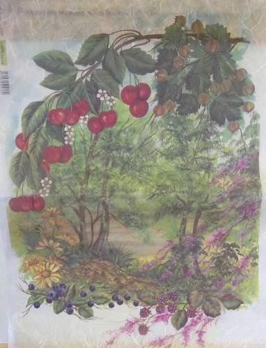 Rýžový decoupage papír 35 x 50 cm KRAJINKA