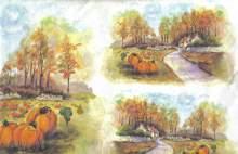 Decoupage rýžový papír 23 x 50 cm KRAJINKA
