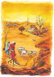Decoupage rýžový papír 50 x 70 cm AFRIKA