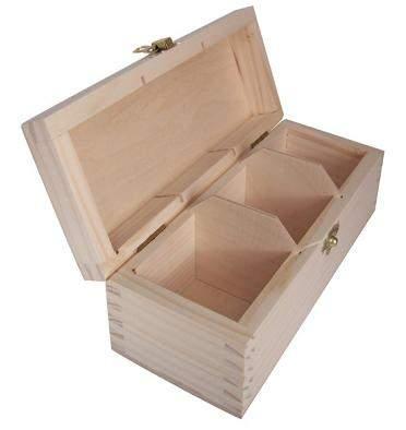 MASIV - Krabička na čaj oblé víko bez zapínání - 3přihrádky