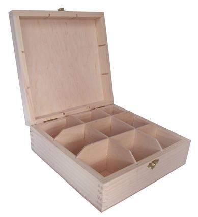 MASIV - Krabička na čaj - 9 přihrádek