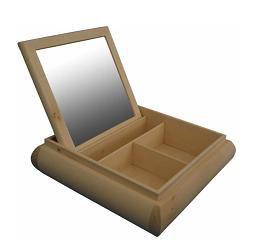 MASIV - Dřevěná toaletka se zrcadlem