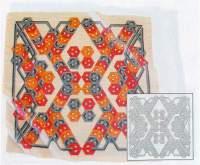 Hedvábný šátek s motivem Vzor Pongé 5 - 90x90cm