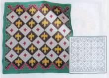 Hedvábný šátek H8 s motivem Lilie 28x28cm