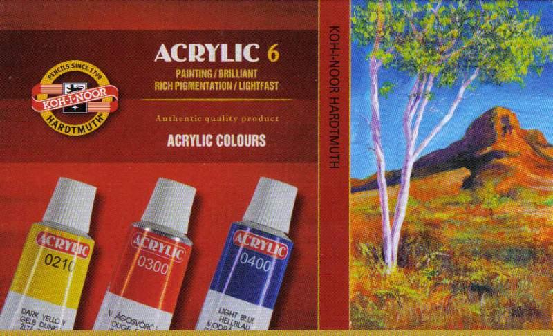 Sada akrylových barev 10ks x16ml Koh-i-noor