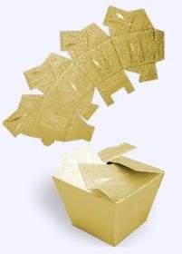 Dárková skládací TAŠTIČKA zlatá PŘÍPITEK 3,8x3,8x2,5 cm
