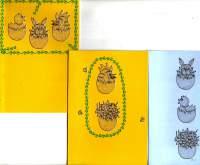 Obrysové samolepky zlaté HRNÍČKY 10x24cm