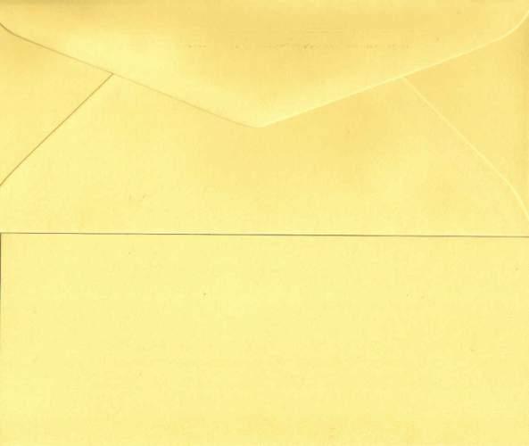 Přání s obálkou dlouhé CITRONOVÁ ŽLUTÁ 8x20cm
