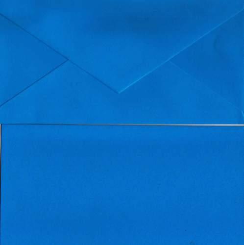 Přání s obálkou MODRÉ dlouhé 10,5x21cm