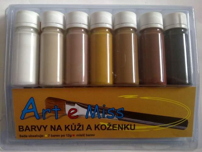 Barvy na kůži a koženku