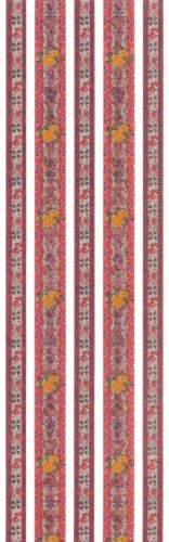 Proužky samolepící Metalické RŮŽIČKY 30 x 9 cm