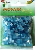 Mozaika LESKLÁ modrá mix 5x5mm