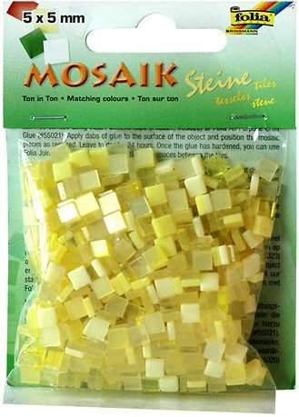 Mozaika LESKLÁ žlutá 5x5mm