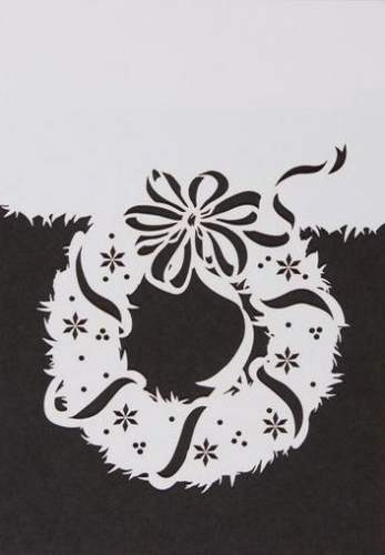 Přáníčko s obálkou VĚNEC - bílé