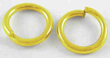 Spojovací kroužky ZLATÉ velikost 6 mm - 80ks
