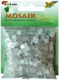Mozaika LESKLÁ bílá mix 5x5mm - cca 830 ks