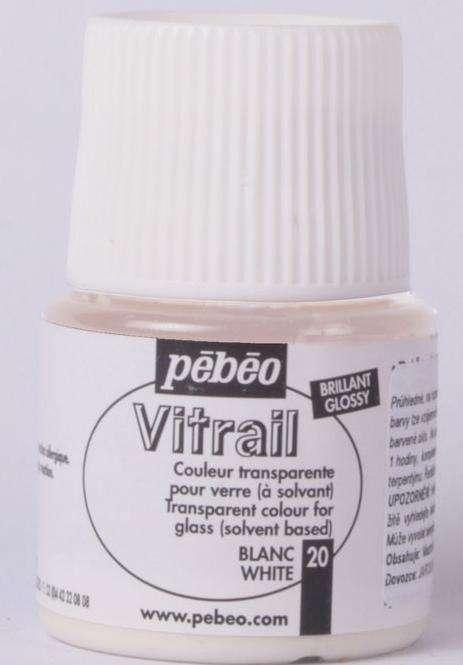 Barva na sklo Vitrail Pébéo - 20 bílá Pebeo