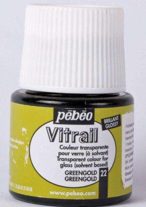 Barva na sklo Vitrail Pébéo - 22 hrášková Pebeo