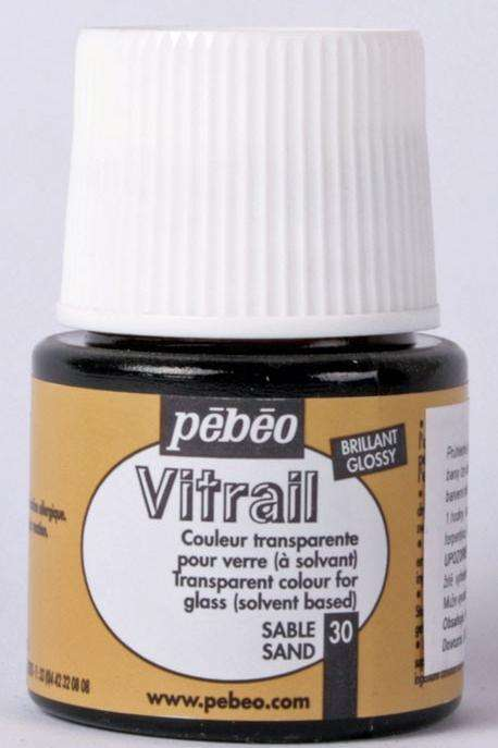 Barva na sklo Vitrail Pébéo - 30 PÍSKOVÁ