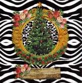 Ubrousek 33 x 33 cm Vánoční stromeček