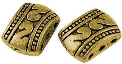 Vodič 3 otvorový barva antik zlatá 10 x 6,7 mm - 5ks