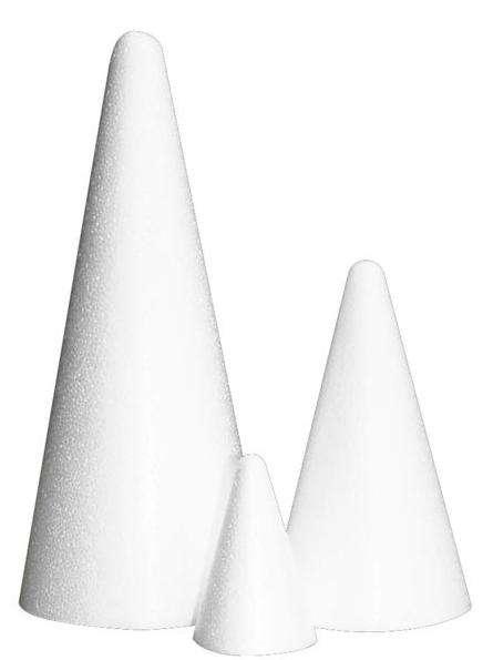 Kužel - polystyren 15x8cm - 1ks