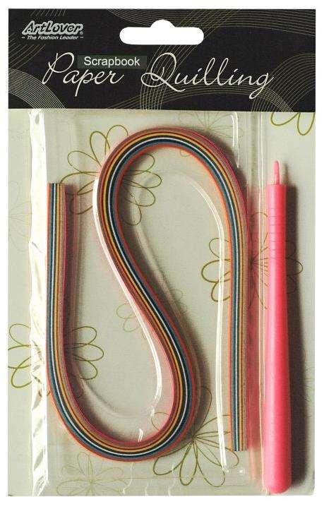 Papírové proužky na quiling S TYČINKOU - cca 50ks