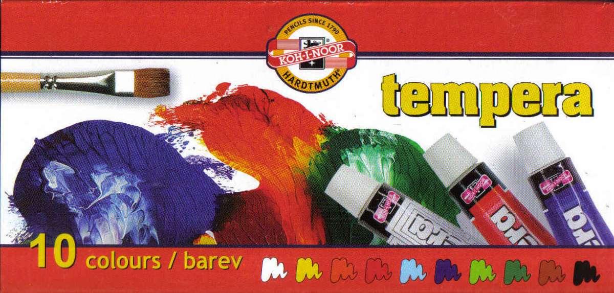 Temperové barvy Koh-i-noor 10x10ml