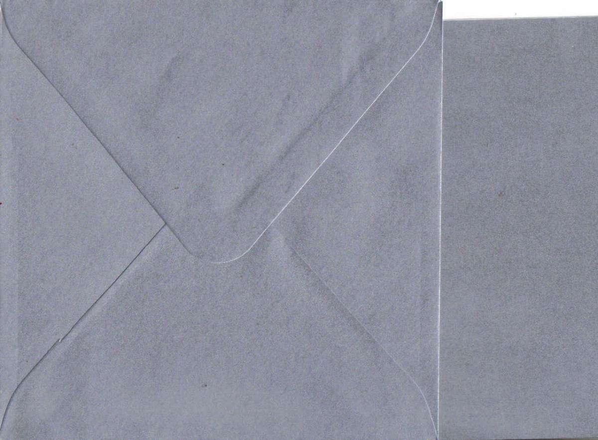 Přáníčko s obálkou METALICKÉ stříbrné 15x15cm 240g/m2