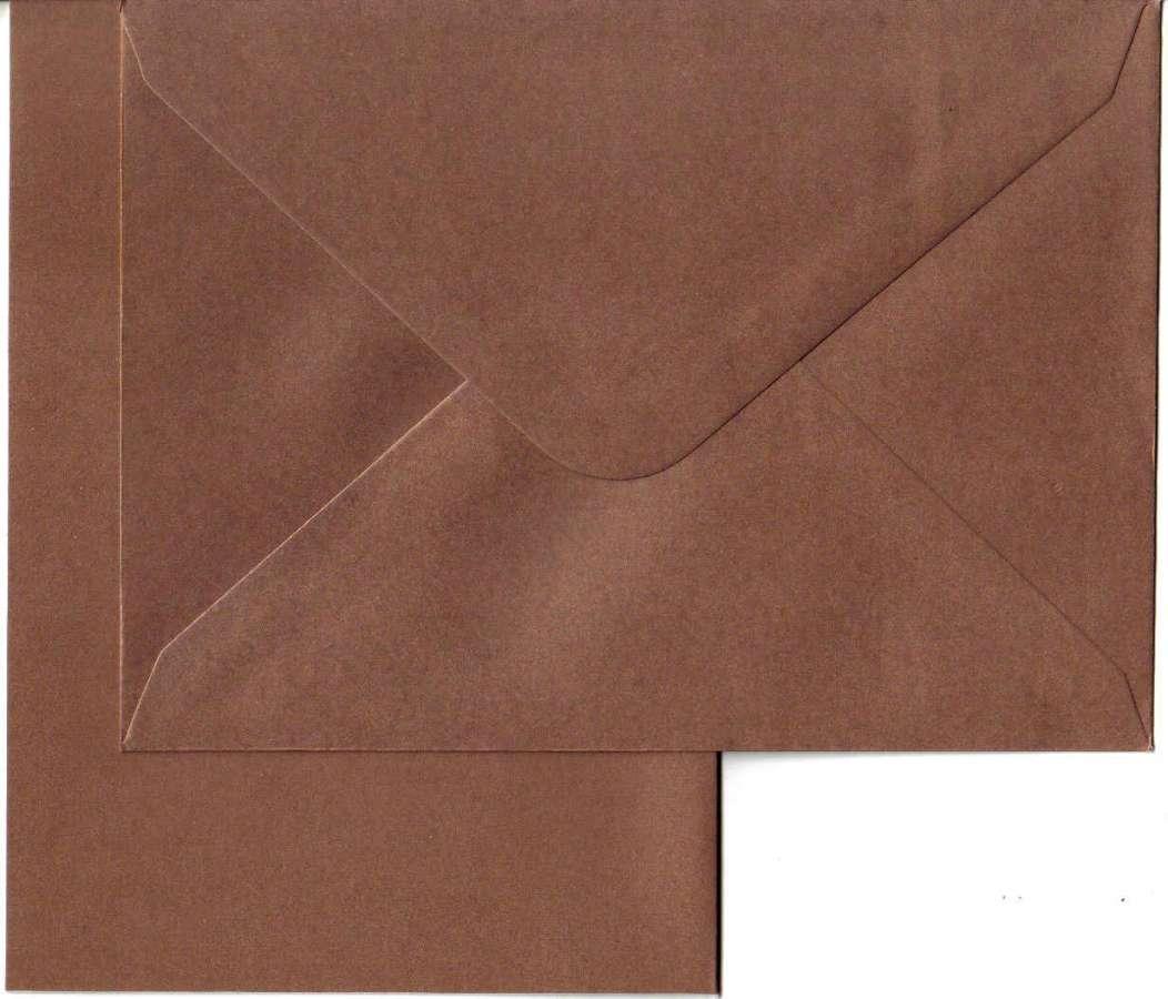 Přáníčko s obálkou METALICKÉ zlaté 13x18cm 240g/m2