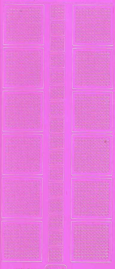 Obrysové samolepky RŮŽOVÉ 10x23cm