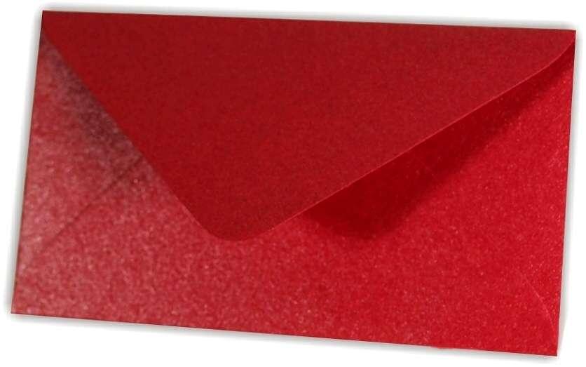 Papírová Barevná Obálka C6 Bordó Metalická