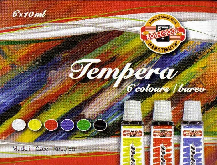 Temperové barvy 6x10ml Koh-i-noor