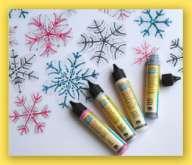 Glitterliner - Glitrová kontura NERCHAU 28ml na dřevo, textil i hedvábí - Modrá