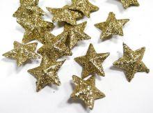 Dekorace přízdoba s glitry 2cm hvězdička - 1ks