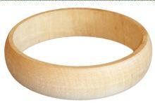 Dřevěný náramek zaoblený 3cm